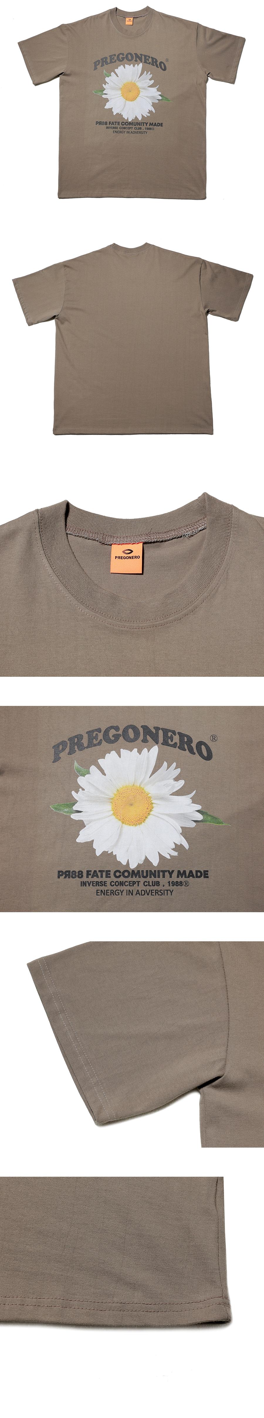 프리고네로(PREGONERO) 카모마일 플라워 시리즈 반팔티_오트밀